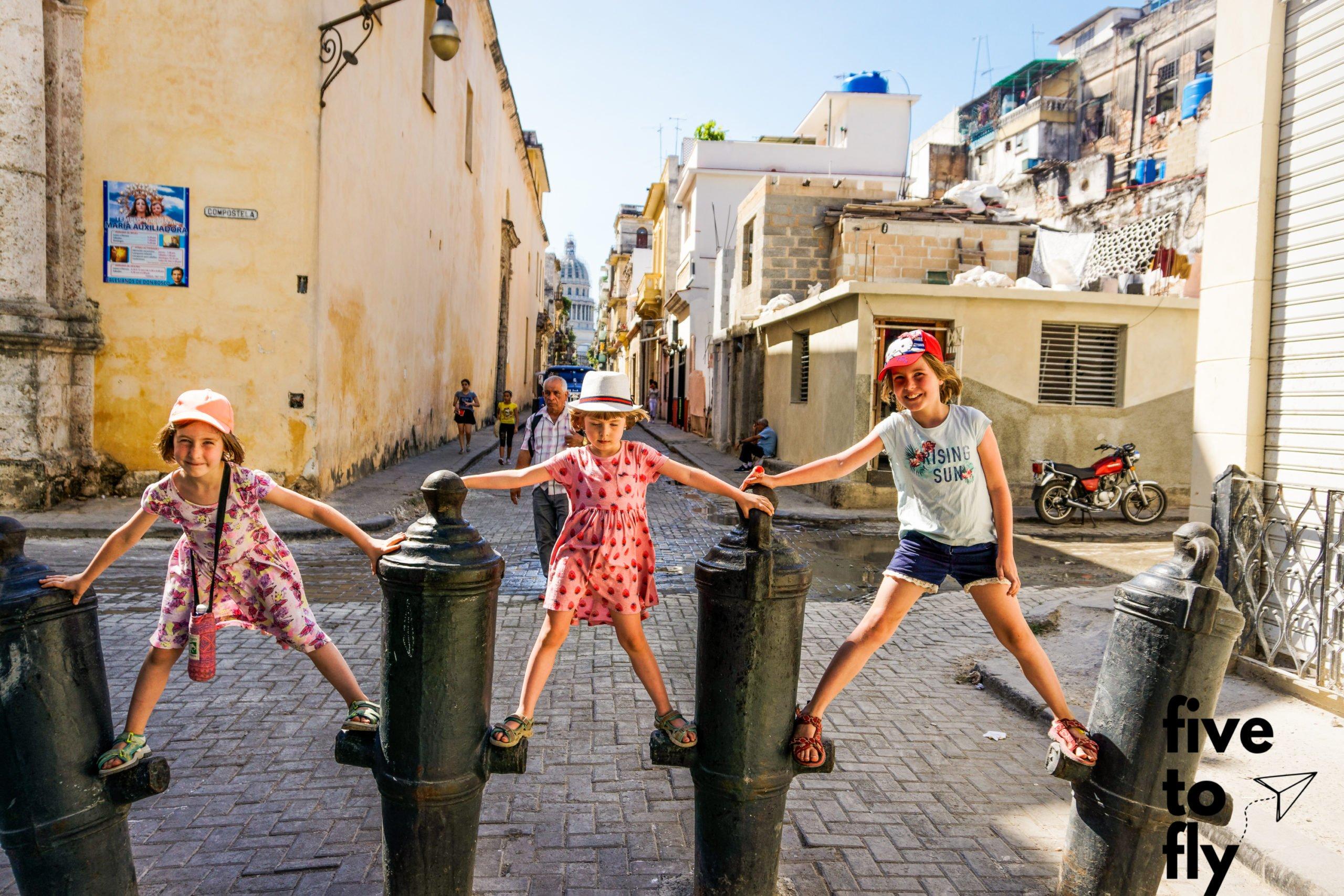 Atrakcje Hawany - armaty na ulicy